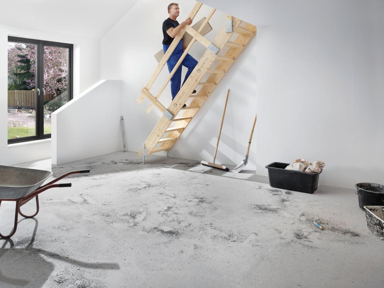 ... Die Nächste Etage Sicher Erreicht Werden Und Die Bautätigkeiten  Problemlos Fortgesetzt Werden. Und Sie Haben Länger Zeit Für Die Planung  Ihrer Treppe Um ...