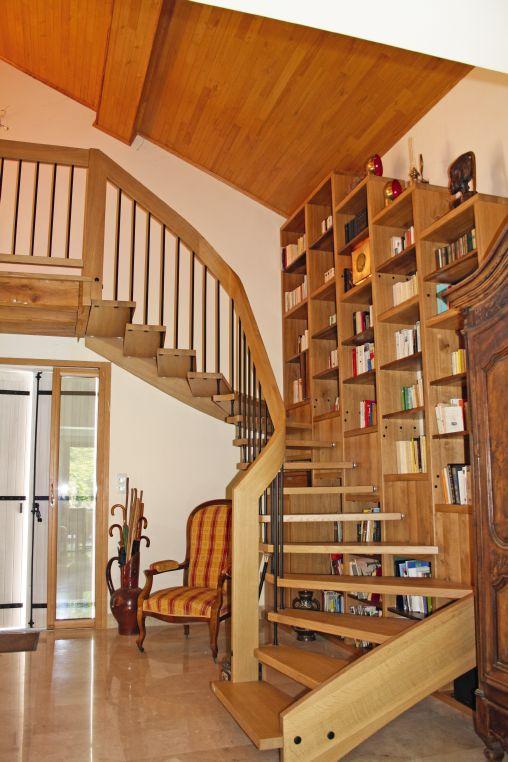 Escalier avec rangement - Escalier bibliothèque TREPPENMEISTER