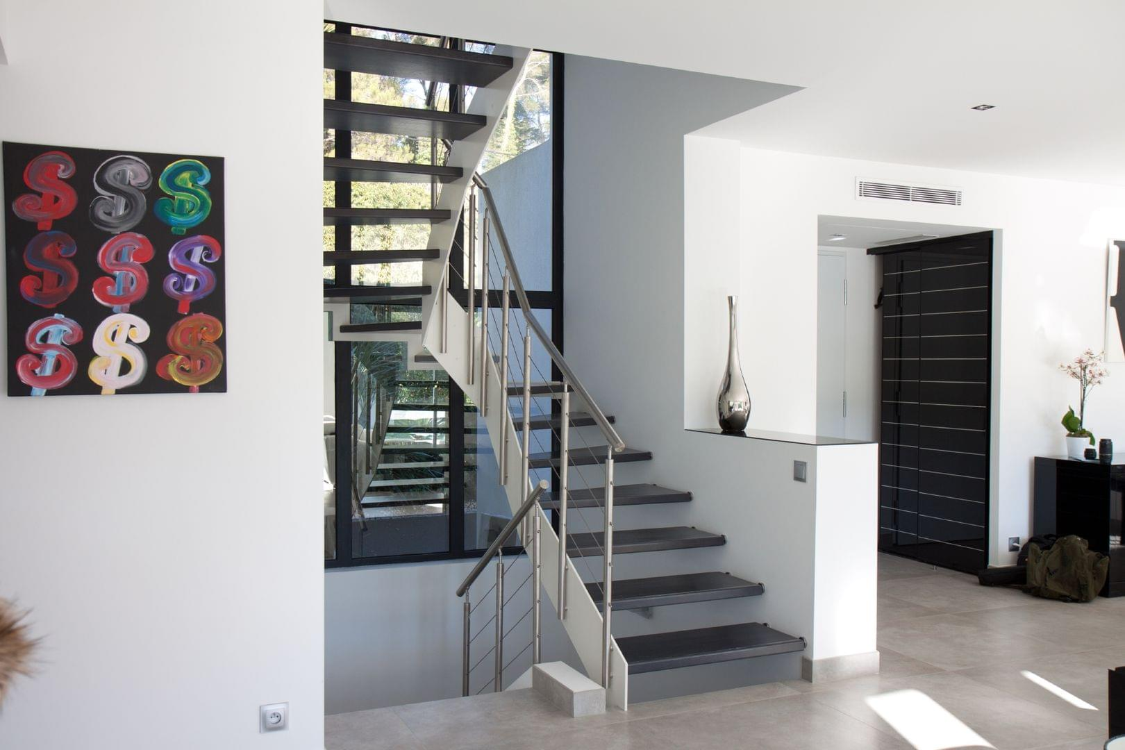 escalier bois m tal mod le loft treppenmeister. Black Bedroom Furniture Sets. Home Design Ideas