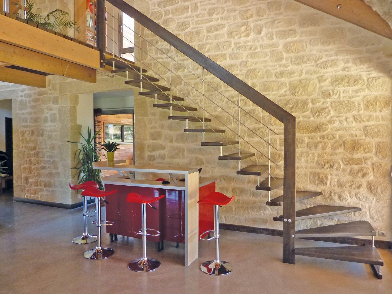 Escalier contemporain en bois et métal | TREPPENMEISTER