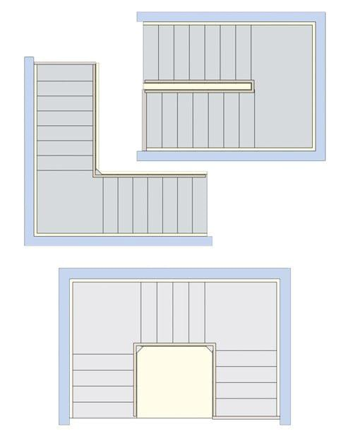 formes et types d 39 escaliers quart tournants et escaliers. Black Bedroom Furniture Sets. Home Design Ideas