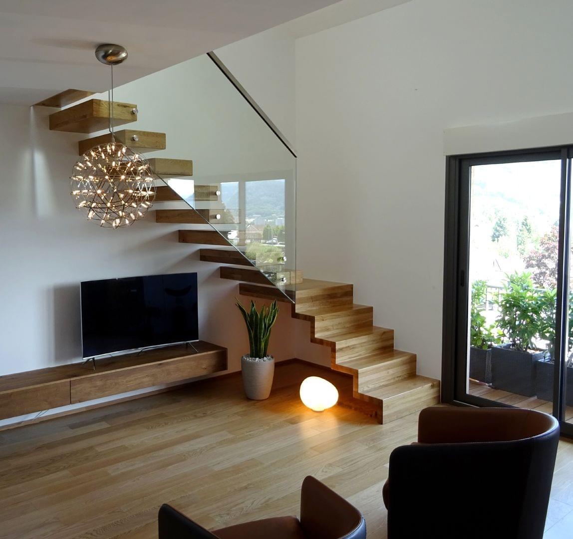 Escalier Design - Escaliers autoporteurs Design Ego | TREPPENMEISTER